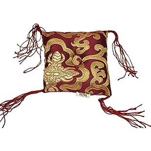 Tibetan Singing Bowl Cushion (Purple):Maskedking