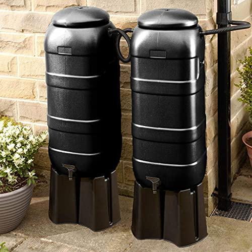 Mini Rainsaver 100 litre Black Water Butt Double Kit