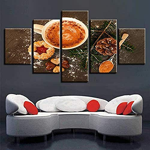 Daapplok Leinwand Malerei Kunst Poster Dekor Bild Hd Drucke Modulare Kaffeebohne Kaffeewand Home Cafe Hochwertige Moderne Wandhaupt Rahmen