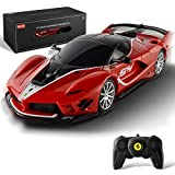 BEZGAR Officially Licensed RC Series, 1:24 Scale Remote Control Car Ferrari FXX K EVO Electric Sport Racing Hobby Toy Car Model Vehicle for Boys Kids Teens and Toddler, Xmas Gifts