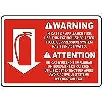 アプライアンスの火災の場合の警告 金属板ブリキ看板警告サイン注意サイン表示パネル情報サイン金属安全サイン