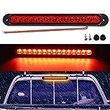 Biqing 1x 15 Luci di Arresto a LED,Universale 12V 24V Luce Posteriore Camion LED Barra di luce del freno del rimorchio Terza luce di stop Rossa Impermeabile per Rimorchio Camion Barca RV(25CM)