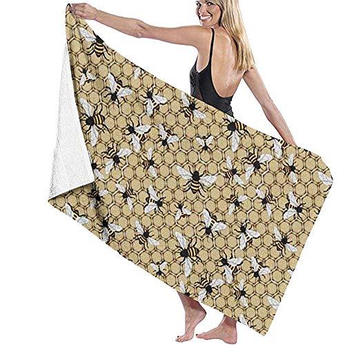 Niet van toepassing Bad Handdoeken, Bijenkorf En Bijen Decoratieve Vrouwen Strand Handdoeken Voor Reizen Camping