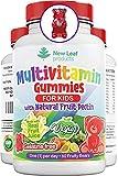 Multivitamins for Children Kids Multivitamin Gummies Two Months Plus Zinc Vegan Essential Vitamins A, B3, B5, B6, B7, B9, B12, C, D, E with Minerals, Gelatine-Free Multivits for Kids, GMP Chewable