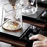 YUIOLIL Báscula de café Digital electrónica con Temporizador de 3 kg / 0,1 g con Temporizador Báscula de Cocina de Alta...