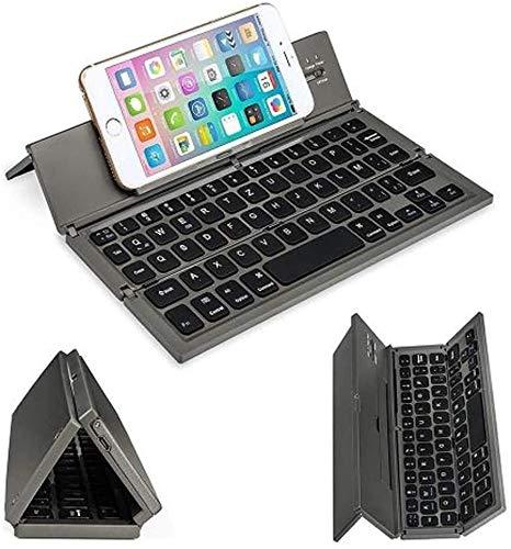 Ovegna CL8: Tragbare und Faltbare Tastatur (QWERTZ), Kabellos, Bluetooth, für Smartphones, Tablets, Laptops, Spielkonsolen, iOS, Android, Windows