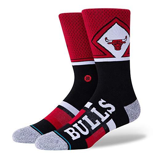 Stance Bulls Shortcut - Calcetines unisex (2 unidades), Unisex adulto, Calcetines unisex., A545A20BUC, rojo, medium