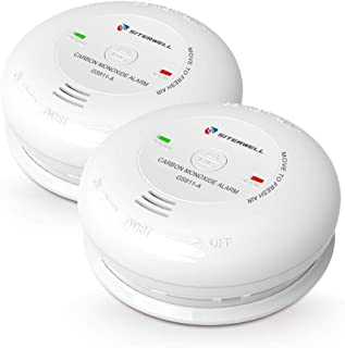 Siterlink 2 Pack 7Years Battery-Operated CO Alarm/Detector, Carbon Monoxide Alarm/