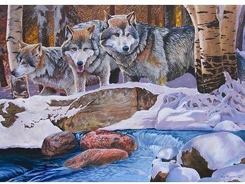 Disfruta de un 50% de descuento. Winter Wolves 1000 Piece Puzzle Puzzle Puzzle by Jack Pine Puzzle Company  ofreciendo 100%