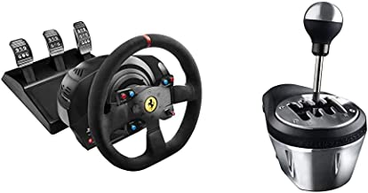 Thrustmaster T300 Integral Rw Volante, Alcantara Edition - PC/PS4/PS3 + Thrustmaster TH8A Cambio per volanti (PS4, Xbox On...
