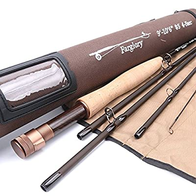 Maxcatch Farglory Fly Fishing Rod 5wt 9'-10'6'' 4-5 sec with 20''Extra Extension Czech Nymph Rod from Maxcatch
