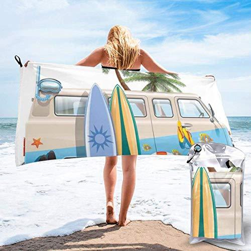 LLOOP Surfen Wochenende Concept mit Tauchelementen Flossen Schnorcheln und Van Trip Relax Peace Bad Schwimmbad Yoga Pilates Picknickdecke Strandtücher 80 x 160 cm