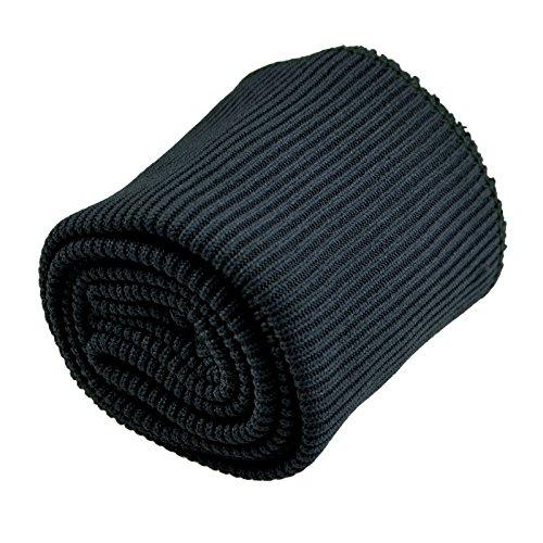 Strick-Bündchen Set 3-tlg. Taillenbündchen + 2 Ärmelbündchen elastisch, Farbwahl, Farbe:schwarz