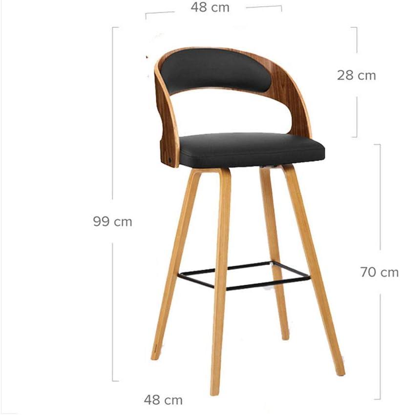 WDX- Tabouret de bar en bois massif Casual personnalité créative Chaise de bar Tabouret haut dossier minimaliste moderne mode (Color : B) B