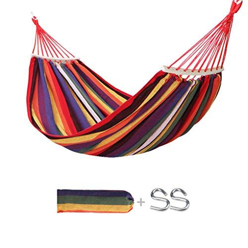 ZZZR Camping Canvas Hangmat - Makkelijk op te slaan/schoon te maken, 450 lbs Draagbare Reizen Hangmat schommelstoel Bed voor achtertuin, Veranda Tuin Outdoor Patio