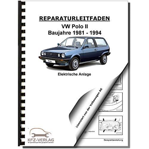 VW Polo 2 Typ 86C (81-94) Elektrische Anlage Elektrik Systeme Reparaturanleitung