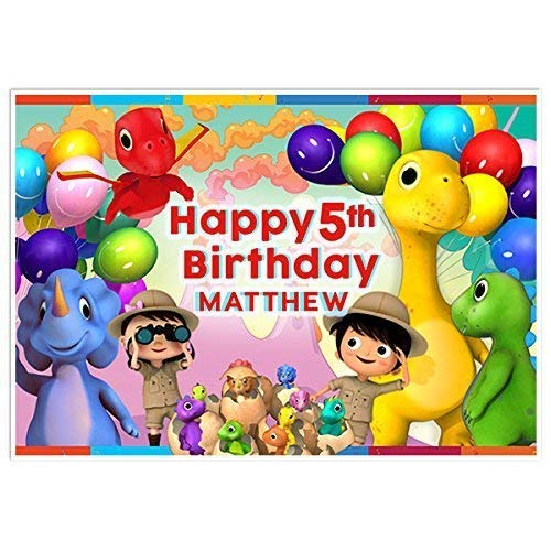 Dino Little Baby Bum Birthday Banner Party Decoration Backdrop