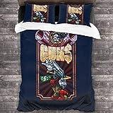 JANNINSE Borderlands Marcus Munitions Gun Vending Machine 3 Pieces Bedding Set Duvet Cover,Decorative 3 Piece Bedding Set with 2 Pillow Shams