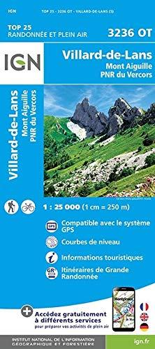 Villard-de-Lans - Mont Aiguille - PNR du Vercors 1 : 25 000