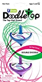 U-Create Doodletop Twister Double Doodle Kit with 2 Tops, Drawing Game, Marker Pens, Creative Art Spiral Spinning Top for Kids Age 5 & Above