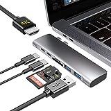 USB Type C ハブ USB C ハブ USB C ドッキングステーション 7in1 変換 USB3.0 HUB PD急速充電 高速データ転送 4K HDMI出力 SD/Micro SD カードリーダー 軽量 超スリム 持ち運び便利 防熱強化 多機能 USB タイプ C 変換アダプタ MacBook/MacBook Pro/ChromeBook対応 (グレー)