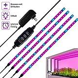 120 LED Pflanzenlicht, 10 Level Dimmbare Helligkeit, 24W Vollspektrum wasserdichtes Pflanzenlampe,...