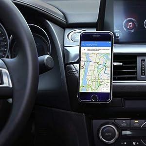 AUKEY Support Voiture Magnétique à Grille d'aération Support Téléphone Voiture Universel pour iPhone 7/6/5, Samsung Note 8/S8, LG et Les Autres Smartphones - Noir