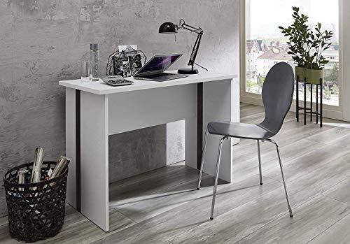 BMG Möbel Jugend-Kinder-Schreibtisch FARO Gaming Bürotisch Homeoffice PC-Tisch in Weiß B/H/T: 110 x 75 x 50 cm