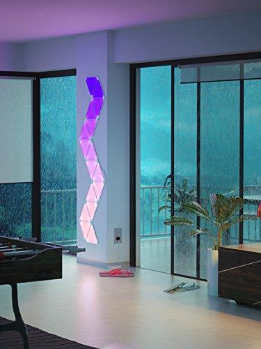 nanoleaf Aurora – 9x Modulare Smarte LED – Lichtpanels mit App Steuerung - 9