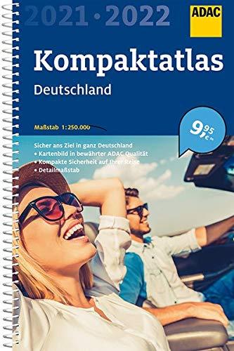 Preisvergleich Produktbild ADAC Kompaktatlas Deutschland 2021 / 2022 1:250 000 (ADAC Atlanten)