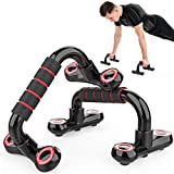RSV Push Up Bars Push Up Stands with Foam Handles & Non-Slip Base Home Workout Push-up Bracket for Men Women Fitness Training, Back, Shoulders, Dips, L-Sits and Press/Pull Core Exercise