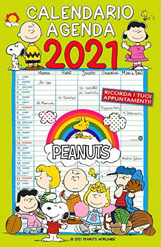 Calendario Agenda 2021 - Peanuts cm 29x44