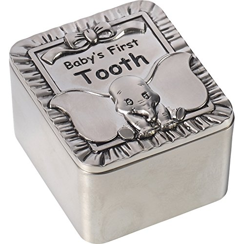 Precious Moments Disney Showcase, Dumbo Baby's First Tooth Zinc Alloy Keepsake Box, 172705