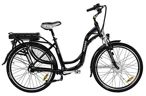 STRADA - La bicicleta eléctrica urbana sin cadena - Motor 250W 8Fun - Batería Panasonic 36V con selector de potencia - Freno V-Brake Promax - Transmisión del eje cardán