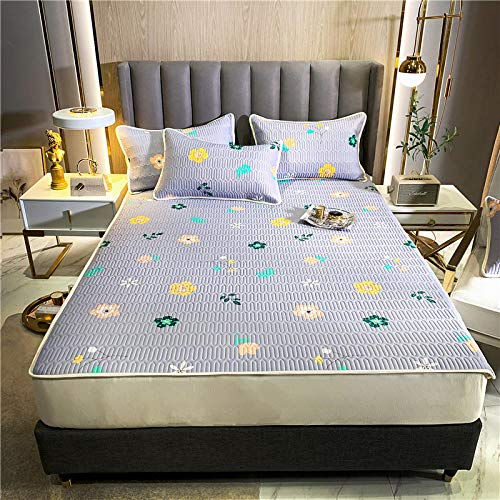 GTWOZNB Snugly Around Your Mattress Hypoallergenic, Breathable Bed Sheets Are Oh-So-Soft Bed Sheet Style Summer Mat-Light Purple_180*200cm