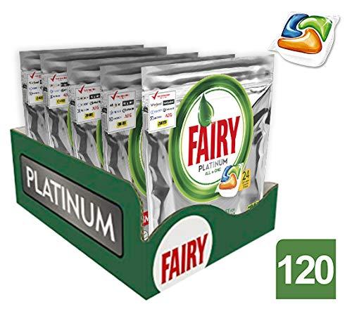 Fairy Platinum Detersivo in Pastiglie per Lavastoviglie, Confezione da 120 Caps (24x5)