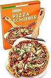 Pizza Mondo® Profi Pizzaschieber NEU - Pizzaheber für Pizzastein u.a. (faltbar) | Premium Qualität - Auch für XXL Pizzen - Der perfekte Pizza Schieber