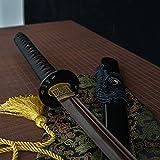 Best Handmade Sword Katana Swords - Handmade katana Red Black Damascus Folded Steel Sword Review