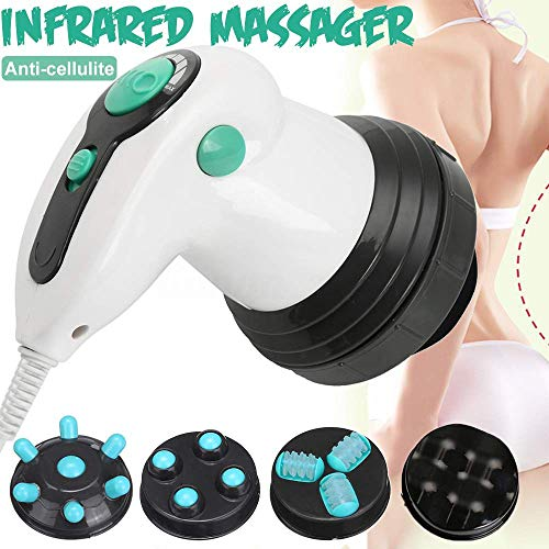 ACCDUER Massagegerät für Körper Cellulite Removal, Cellulite Massage für Body Shaping, gegen Cellulite Anti-Cellulite mit 4 Stück Massage Kopf