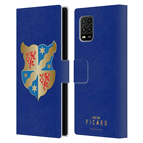 Oficial Star Trek: Picard Escudo De Armas Insignias Carcasa de Cuero Tipo Libro Compatible con Xiaomi Mi 10 Lite 5G