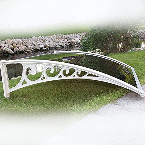 Arch Mute - Toldo para toldo (3 mm, resistente a los impactos, panel de policarbonato de 3 mm, contra todo tipo de clima, color marrón y blanco, tamaño: 100 x 120 cm)