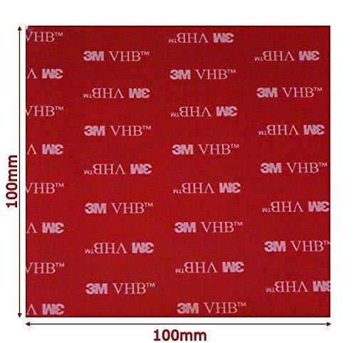 Noir Double Face Acrylique VHB 3 m carré Pad – 100 mm x 100 mm x 1 mm d'épaisseur – Résistant aux intempéries VHB Heavy Duty ruban – Modèle : 5952