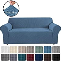 Stretch Couch Cover Sofa Covers Furniture Covers Sofa Slipcover Feature High Spandex Textured Lycra Small Checks...