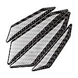 FancyAuto 4pcs Carbon Fiber/Glass Fiber Anti-Collision Protector Car Crash Bar Universal Carbon Trim Car Door Protection Bumber (Black