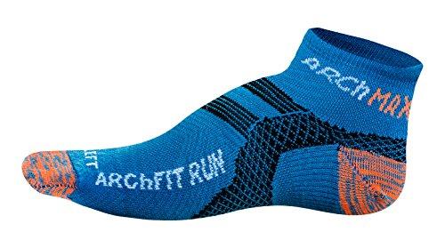 Arch Max Archfit Low Cut - Calcetín Deportivo Unisex, Color Azul flúor, Talla S/36-39