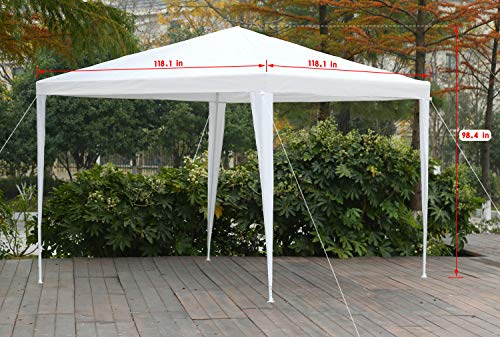 FDW 10'x10'Outdoor Canopy Party Wedding Tent Garden Gazebo Pavilion Cater Events