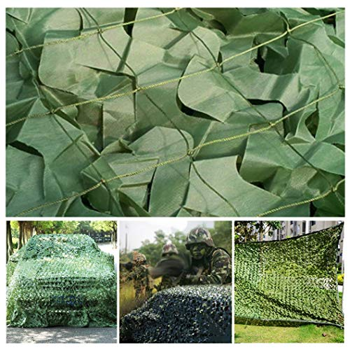 5 X 3M /16.4 X 9.8 Ft Woodland Greeen Army Camouflage Net Camo Netting for Camping Hide Military Hunting Shooting Garden Terrace Gazebo Balcony Pergola Decoration Available in A Variety of Sizes