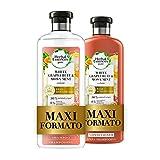 Herbal Essences Pompelmo Bianco e Menta di Mosa: Shampoo 400 ml + Balsamo 360 ml, Dona Volume ai Capelli, in Collaborazione con Giardini Botanici Reali di Kew