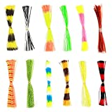600 fili gonna esche da pesca esca squid rubber thread fly tying materiali gonne per pesca outdoor fai da te di