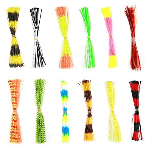 600 Stränge Angelköder Rock Köder Tintenfisch Gummifaden Fliegenbinden Materialien Röcke für Outdoor Angeln DIY Zubehör